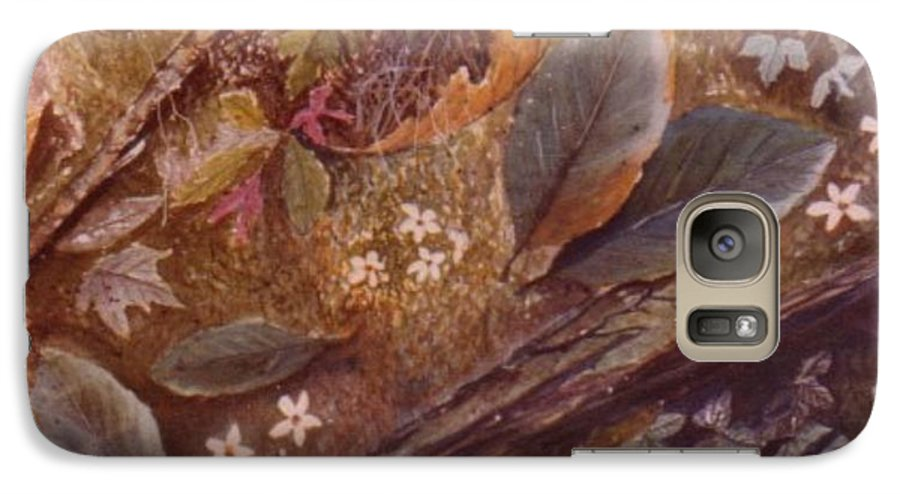 Leaves; Forest; Flowers Galaxy S7 Case featuring the painting Forest Floor by Ben Kiger