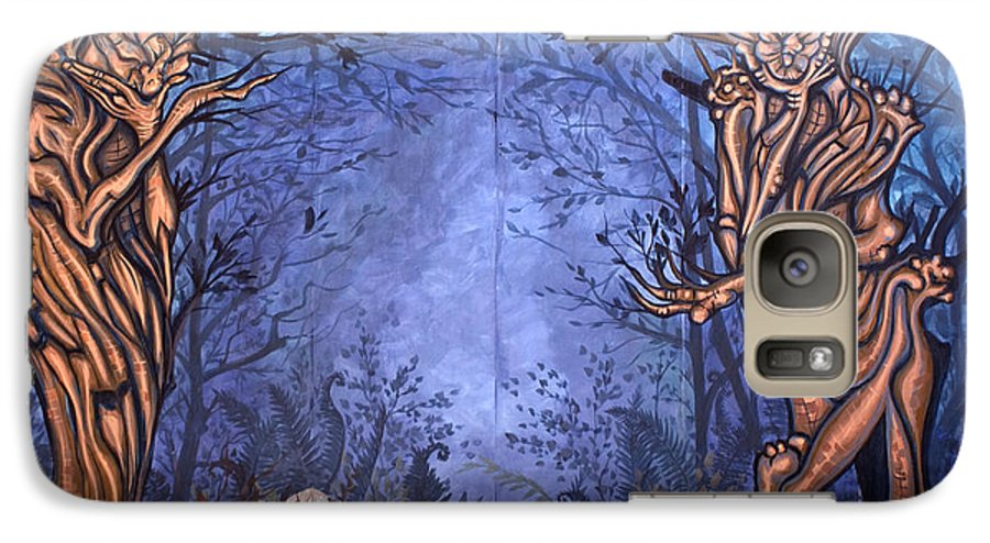 Mystic Galaxy S7 Case featuring the painting Forest by Judy Henninger