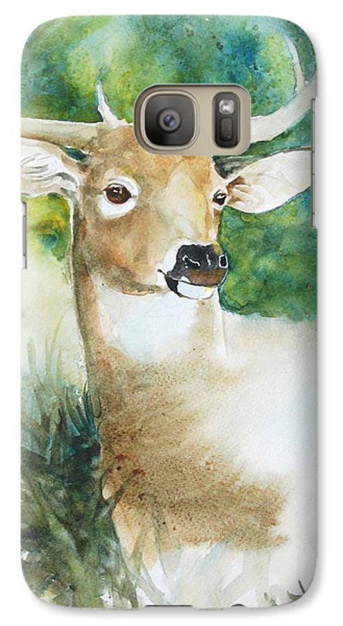 Deer Galaxy S7 Case featuring the painting Forest Spirit by Christie Michelsen
