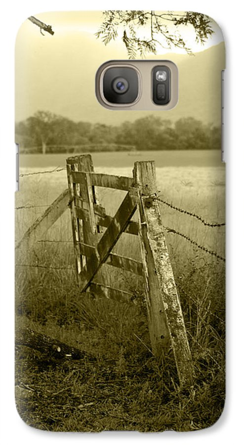 Gate Galaxy S7 Case featuring the photograph Forgotten Fields by Holly Kempe