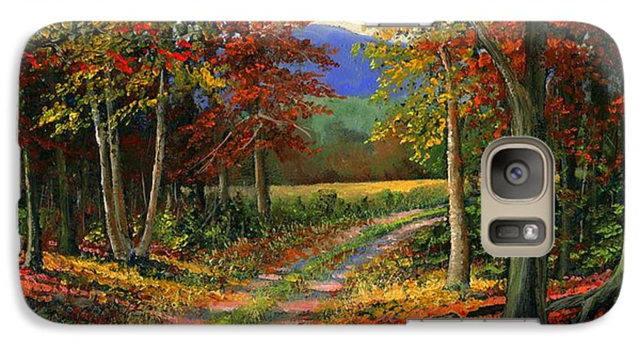 Landscape Galaxy S7 Case featuring the painting Forgotten Road by Frank Wilson