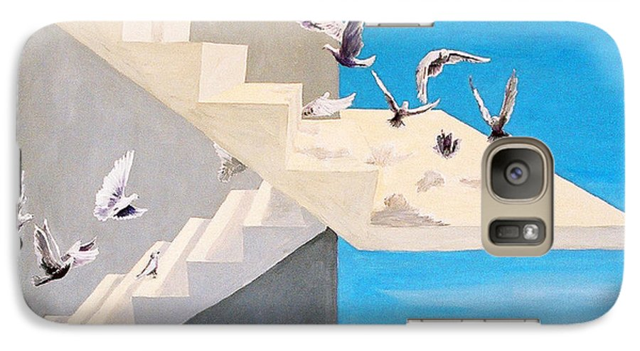 Birds Galaxy S7 Case featuring the painting Form Without Function by Steve Karol