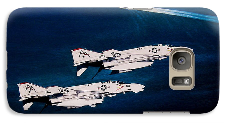 Military Galaxy S7 Case featuring the painting Forrestal S Phantoms by Marc Stewart
