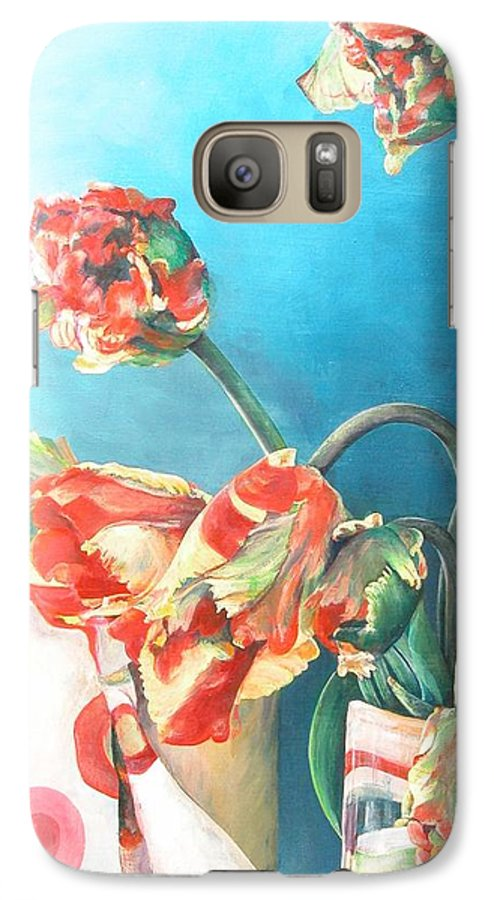 Still Life Galaxy S7 Case featuring the painting Foulard by Muriel Dolemieux