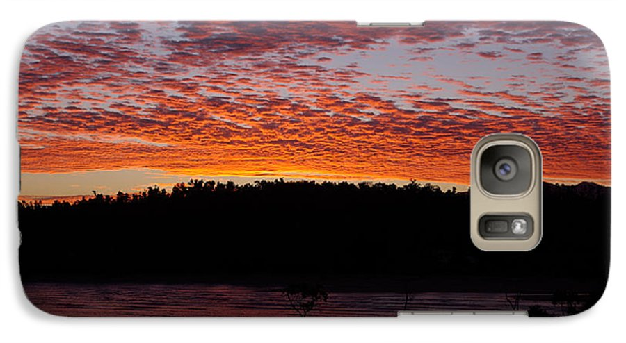Landscape Galaxy S7 Case featuring the photograph Four Elements Sunset Sequence 2 Coconuts Qld by Kerryn Madsen - Pietsch