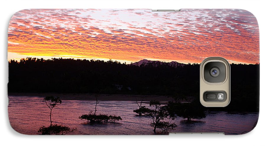 Landscape Galaxy S7 Case featuring the photograph Four Elements Sunset Sequence 3 Coconuts Qld by Kerryn Madsen - Pietsch
