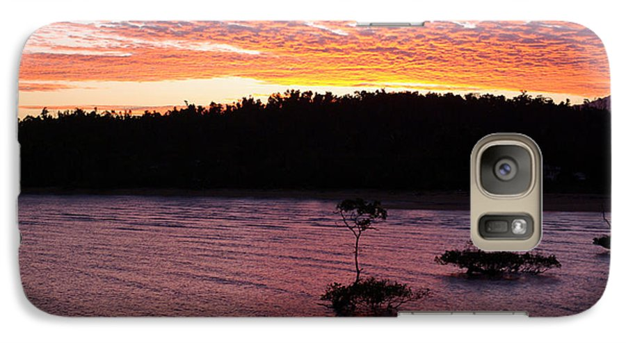 Landscape Galaxy S7 Case featuring the photograph Four Elements Sunset Sequence 5 Coconuts Qld by Kerryn Madsen - Pietsch