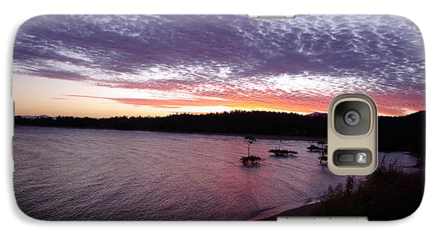Landscape Galaxy S7 Case featuring the photograph Four Elements Sunset Sequence 6 Coconuts Qld by Kerryn Madsen-Pietsch