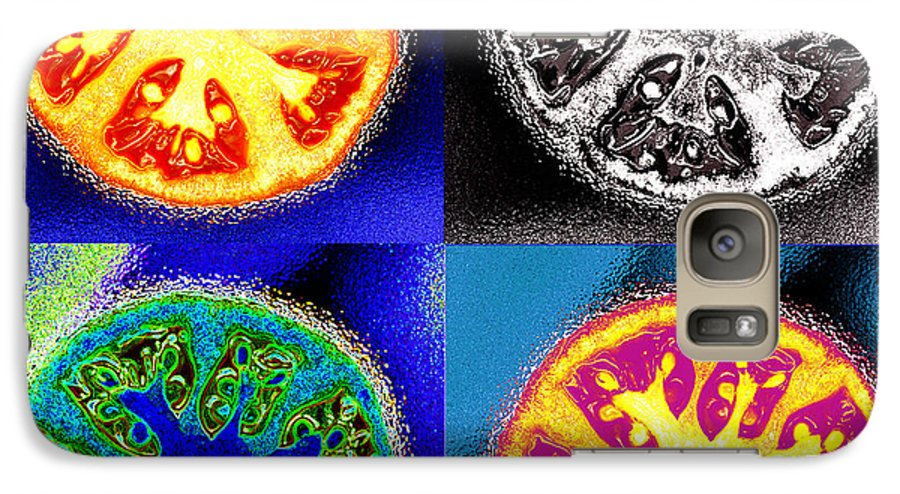 Tomatoes Galaxy S7 Case featuring the photograph Four Tomatoes by Nancy Mueller