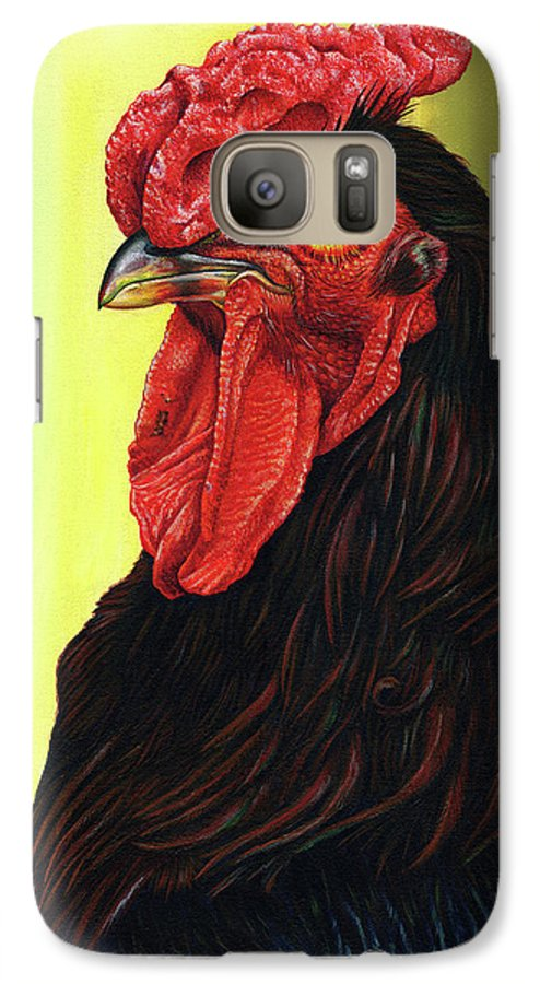 Rhode Galaxy S7 Case featuring the painting Fowl Emperor by Cara Bevan