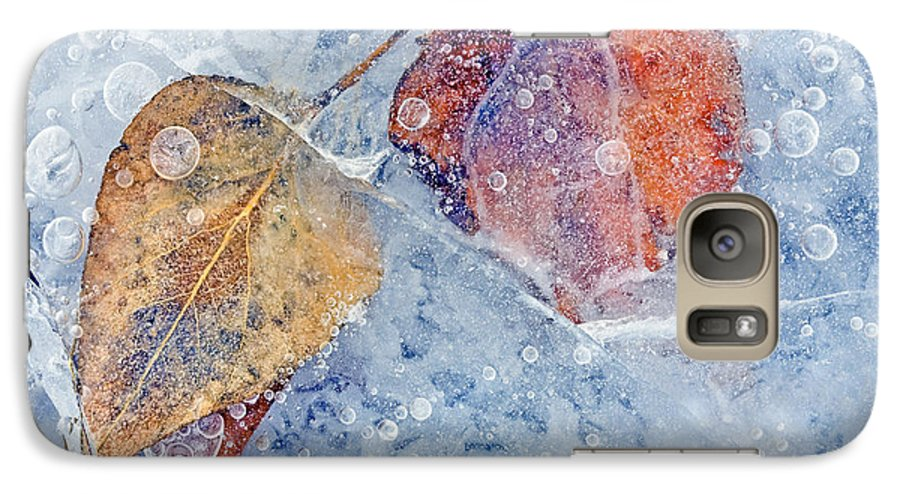 Ice Galaxy S7 Case featuring the photograph Fractured Seasons by Mike Dawson