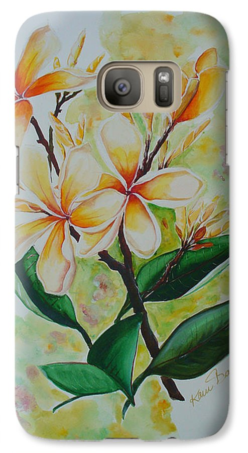 Galaxy S7 Case featuring the painting Frangipangi by Karin Dawn Kelshall- Best