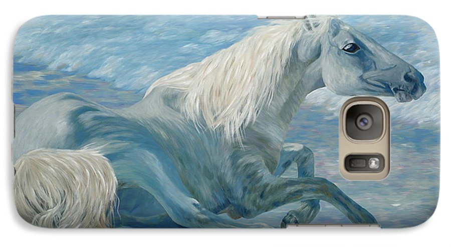 Seascape Galaxy S7 Case featuring the painting Free Spirit by Danielle Perry