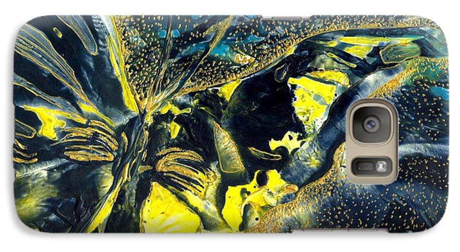 Butterfly Galaxy S7 Case featuring the painting Freedom For Margot by Heather Hennick