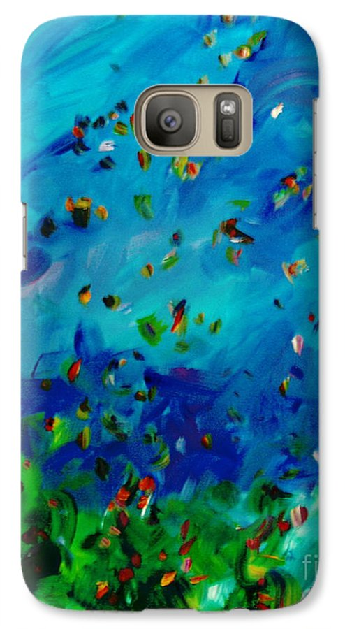 Landscape Galaxy S7 Case featuring the painting Freelancing by Reina Resto