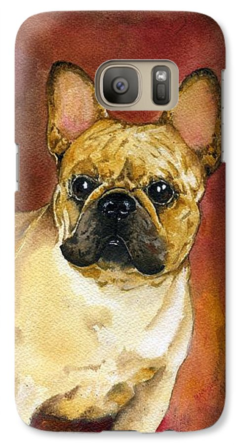 French Bulldog Galaxy S7 Case featuring the painting French Bulldog by Kathleen Sepulveda