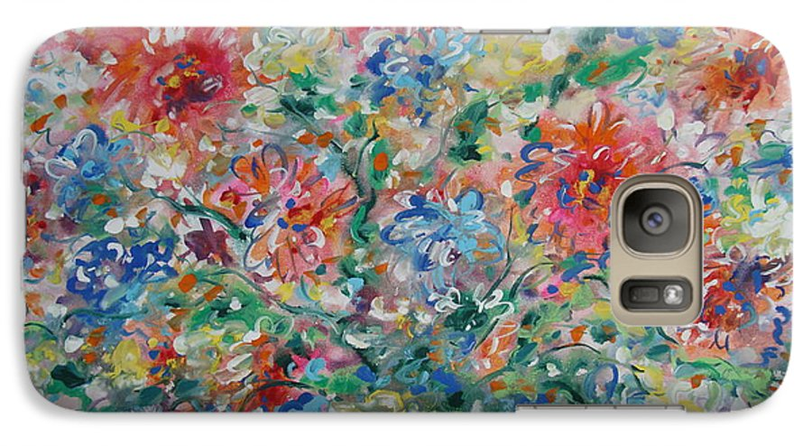 Flowers Galaxy S7 Case featuring the painting Fresh Bouquet by Leonard Holland