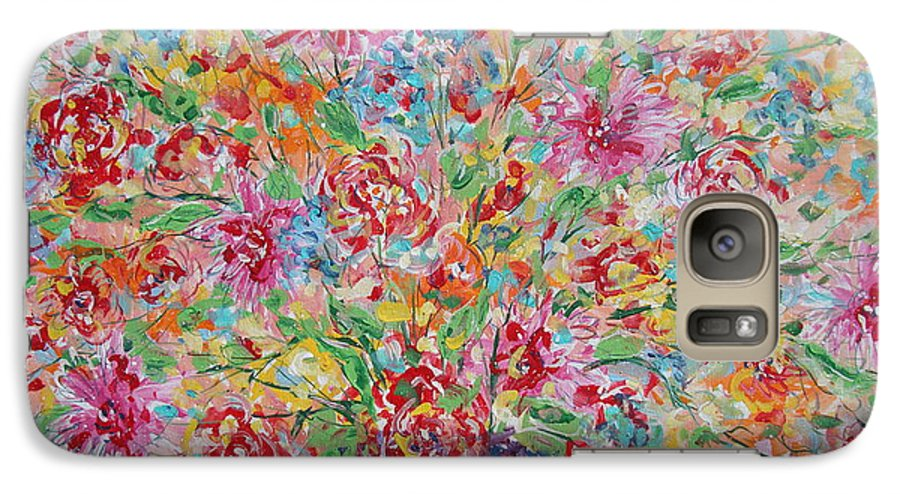 Painting Galaxy S7 Case featuring the painting Fresh Flowers. by Leonard Holland