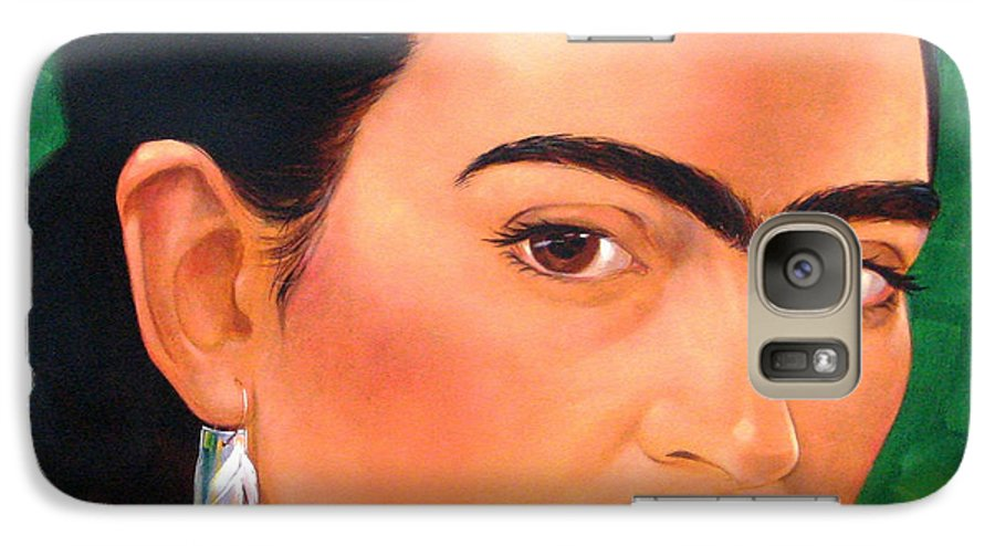 Frida Kahlo Galaxy S7 Case featuring the painting Frida Kahlo 2003 by Jerrold Carton