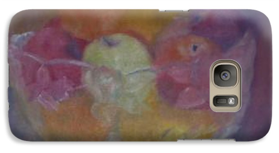 Still Life Galaxy S7 Case featuring the painting Fruit In Glass Bowl by Sheila Mashaw