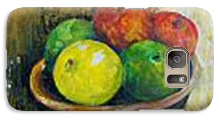 Apples And Oranges Galaxy S7 Case featuring the painting Frutas by Carol P Kingsley
