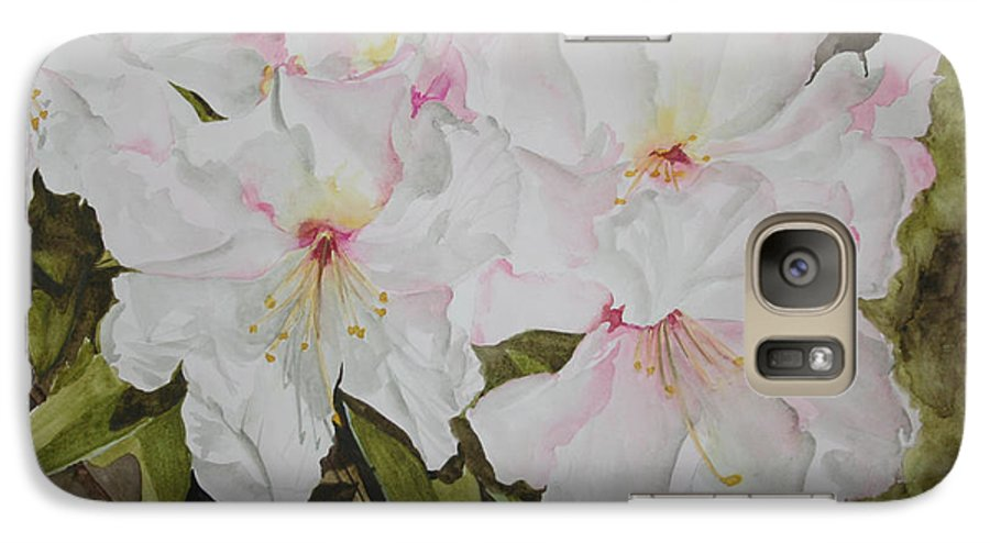 Flowers Galaxy S7 Case featuring the painting Full Bloom by Jean Blackmer