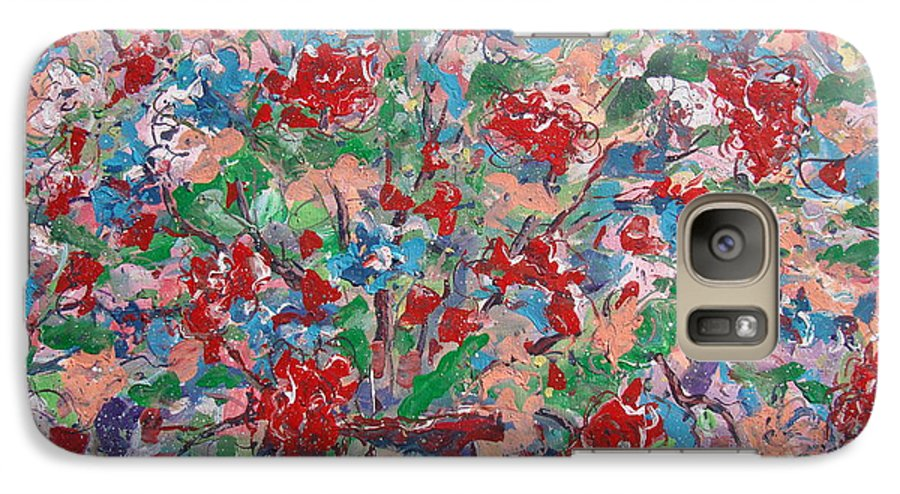 Painting Galaxy S7 Case featuring the painting Full Bloom. by Leonard Holland