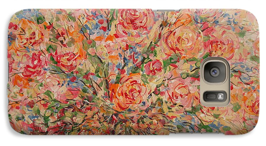 Flowers Galaxy S7 Case featuring the painting Full Bouquet. by Leonard Holland