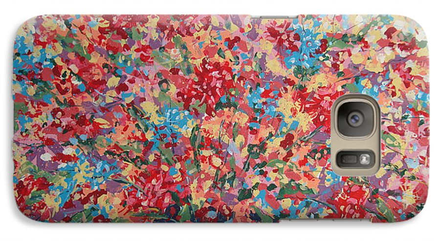 Flowers Galaxy S7 Case featuring the painting Full Flower Bouquet. by Leonard Holland