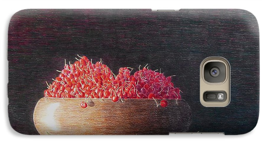 Still Life Galaxy S7 Case featuring the painting Full Life by A Robert Malcom