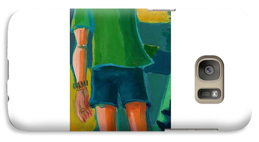 Portrait Galaxy S7 Case featuring the painting Gabrielle by Debra Bretton Robinson