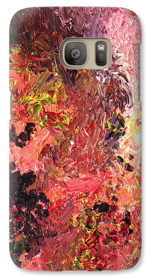 Fusionart Galaxy S7 Case featuring the painting Ganesh In The Garden by Ralph White