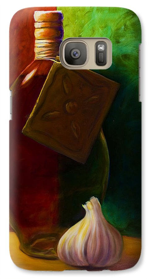 Shannon Grissom Galaxy S7 Case featuring the painting Garlic And Oil by Shannon Grissom