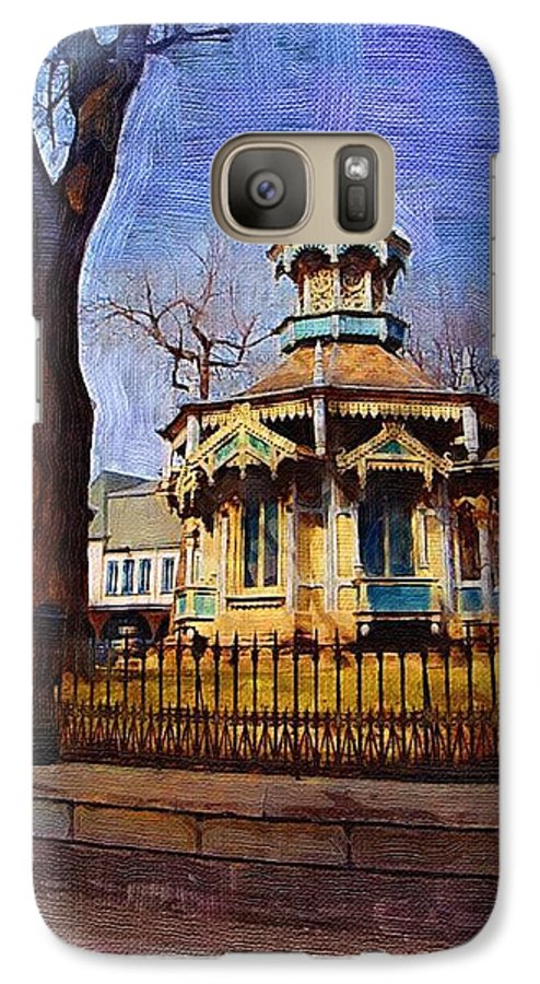 Architecture Galaxy S7 Case featuring the digital art Gazebo And Tree by Anita Burgermeister