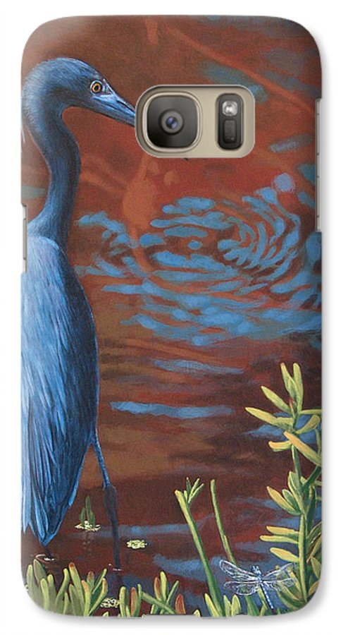 Painting Galaxy S7 Case featuring the painting Gazing Intently by Peter Muzyka