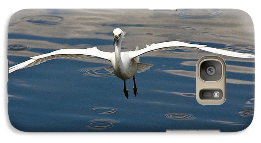 Snowy Egret Galaxy S7 Case featuring the photograph Gear Down by Christopher Holmes