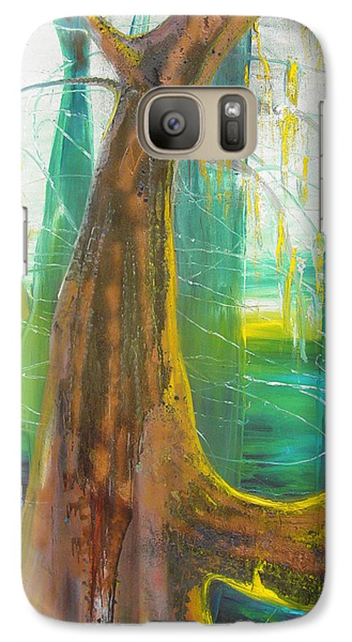 Landscape Galaxy S7 Case featuring the painting Georgia Morning by Peggy Blood
