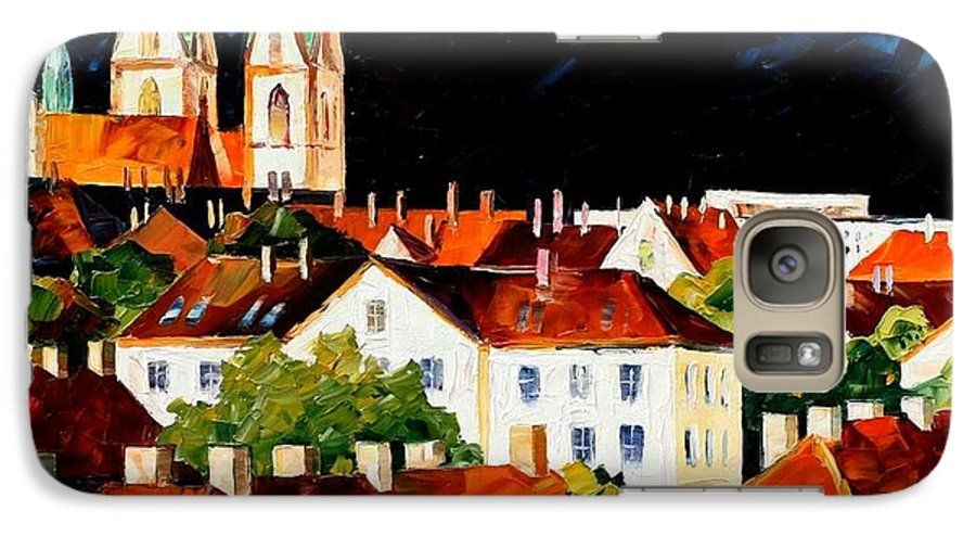 City Galaxy S7 Case featuring the painting Germany - Freiburg by Leonid Afremov
