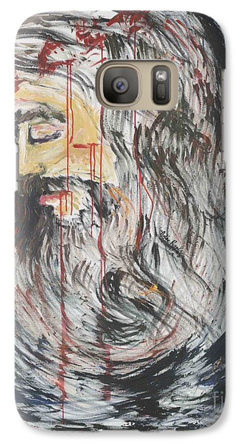 Jesus Galaxy S7 Case featuring the painting Gethsemane To Golgotha IIi by Nadine Rippelmeyer