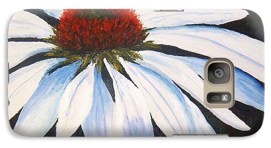 Cone Flowers Galaxy S7 Case featuring the painting Ghost Cone by Tami Booher