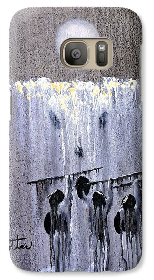 American Indian Galaxy S7 Case featuring the painting Ghost Dance by Patrick Trotter
