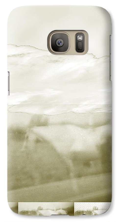 Colorado Galaxy S7 Case featuring the digital art Ghost Horse Colorado by Ann Tracy