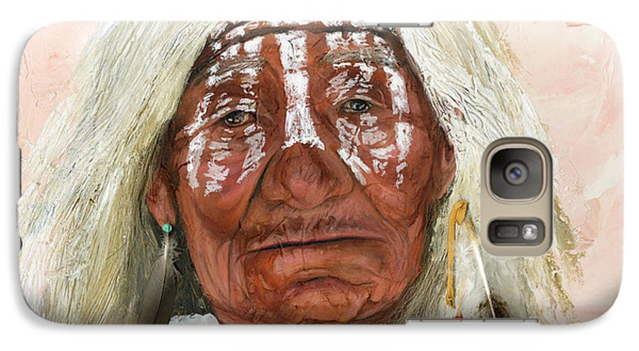Southwest Art Galaxy S7 Case featuring the painting Ghost Shaman by J W Baker