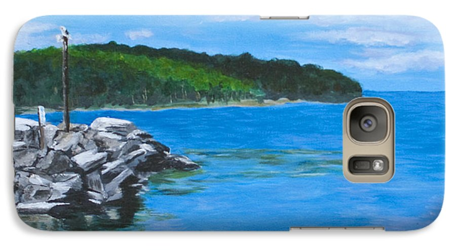 Gills Rock Galaxy S7 Case featuring the painting Gills Rock by Peggy King