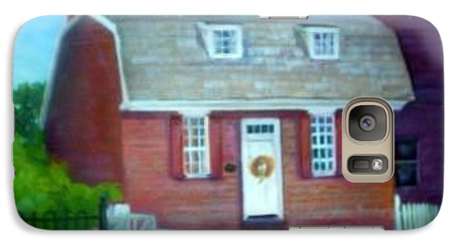 Revell House Galaxy S7 Case featuring the painting Gingerbread House by Sheila Mashaw