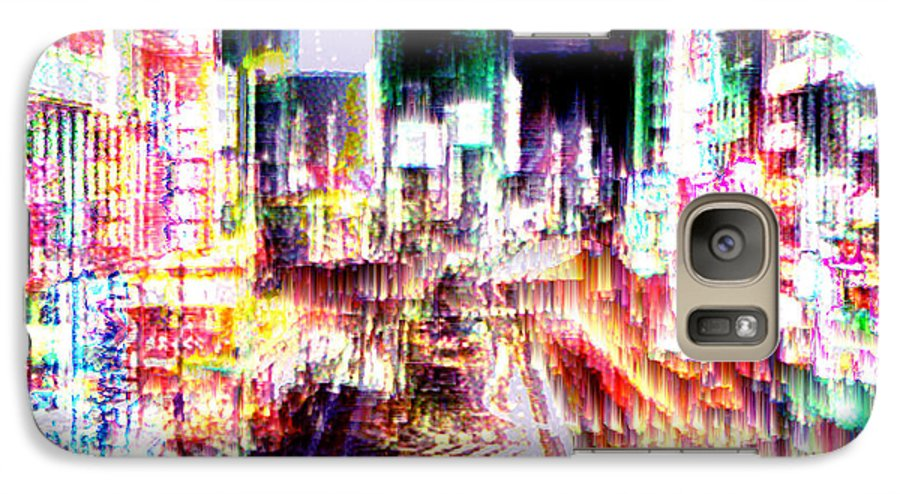 Tokyo Galaxy S7 Case featuring the digital art Ginsa Glitz by Seth Weaver