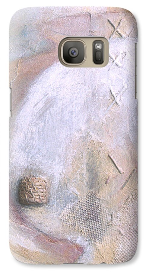Collage Galaxy S7 Case featuring the painting Give And Receive by Kerryn Madsen-Pietsch