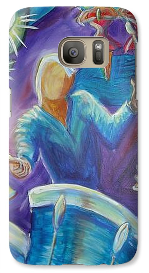Jazz Galaxy S7 Case featuring the painting Give Me A Beat by Regina Walsh