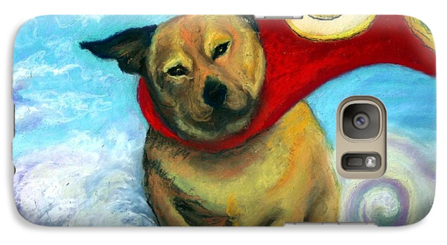 Dog Galaxy S7 Case featuring the painting Gizmo The Great by Minaz Jantz