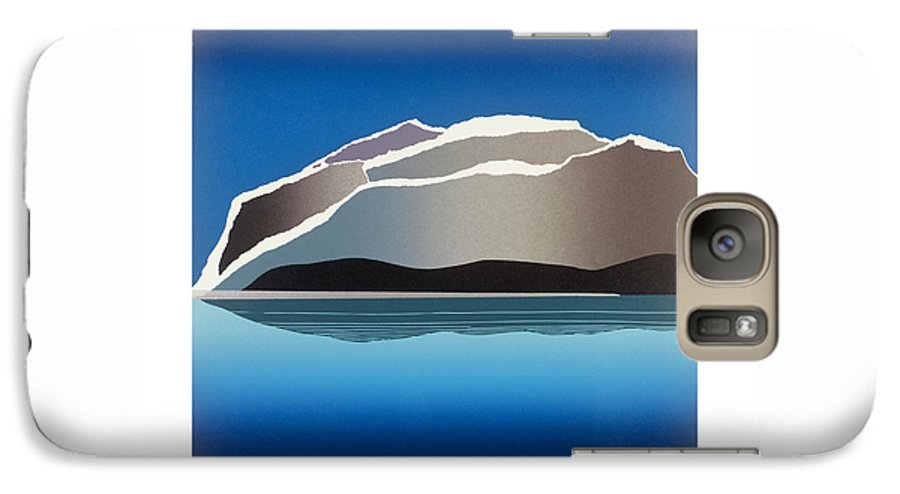 Landscape Galaxy S7 Case featuring the mixed media Glaciers by Jarle Rosseland